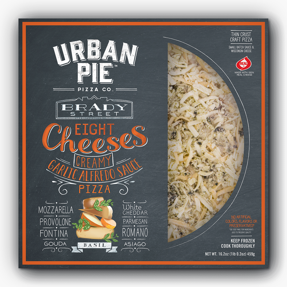 Brady Street Eight Cheese Pizza Urban Pie