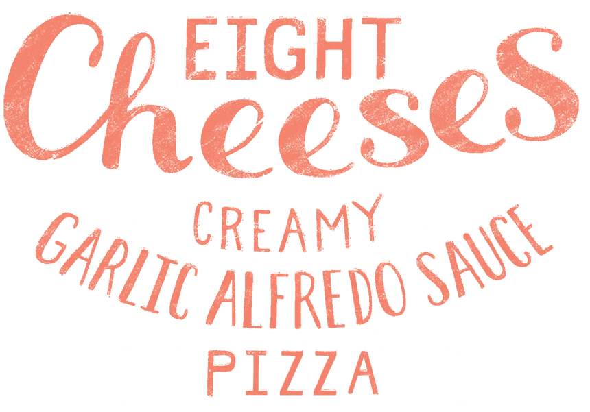 Eight Cheeses Creamy Garlic Alfredo Sauce Pizza