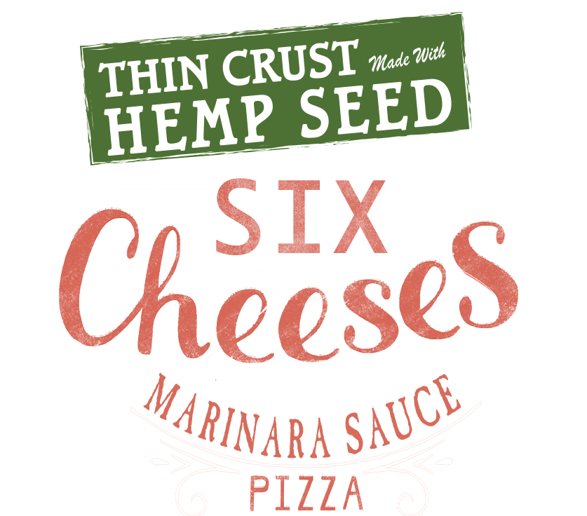 Six Cheese Pizza with Hemp Seed Crust